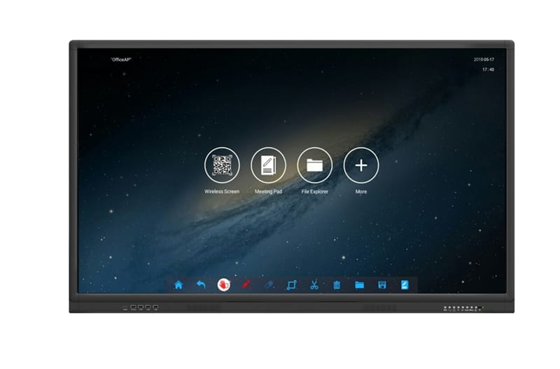 4K interactive touch screen front