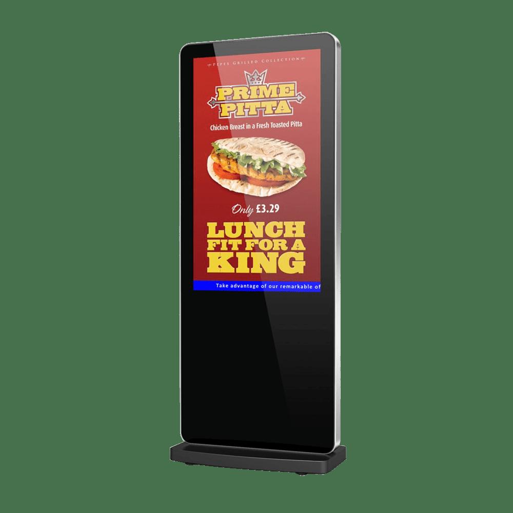 Slimline Freestanding Digital Poster front