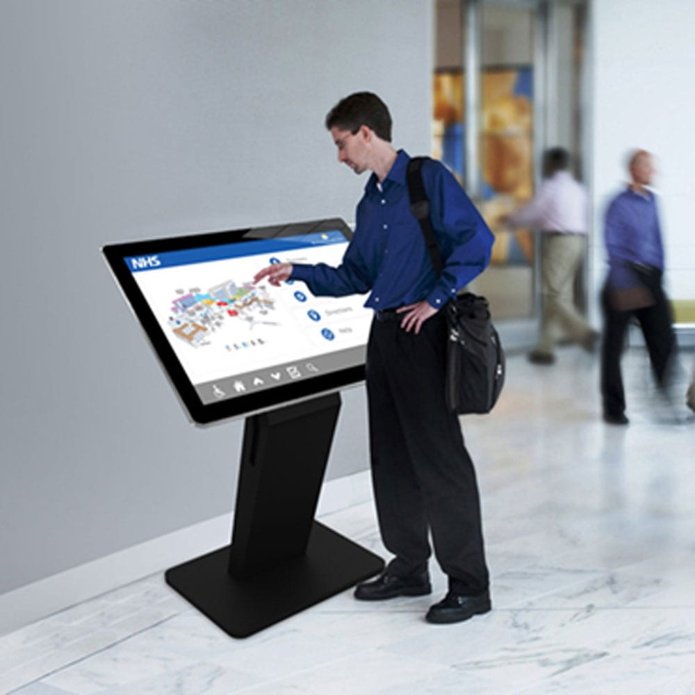 pcap freestanding touch screen kiosk table dual os windows android 01