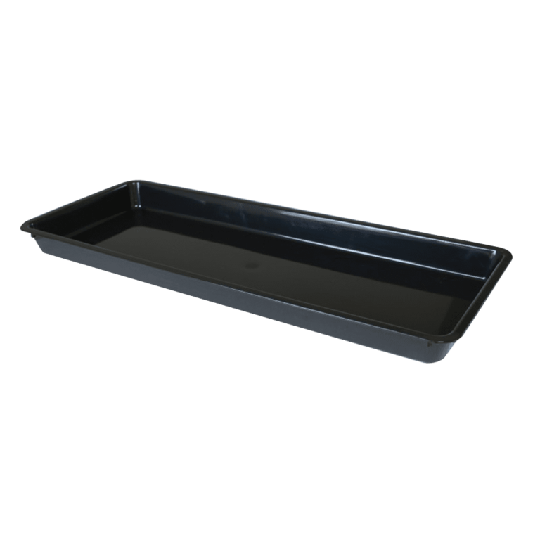 black meat food tray