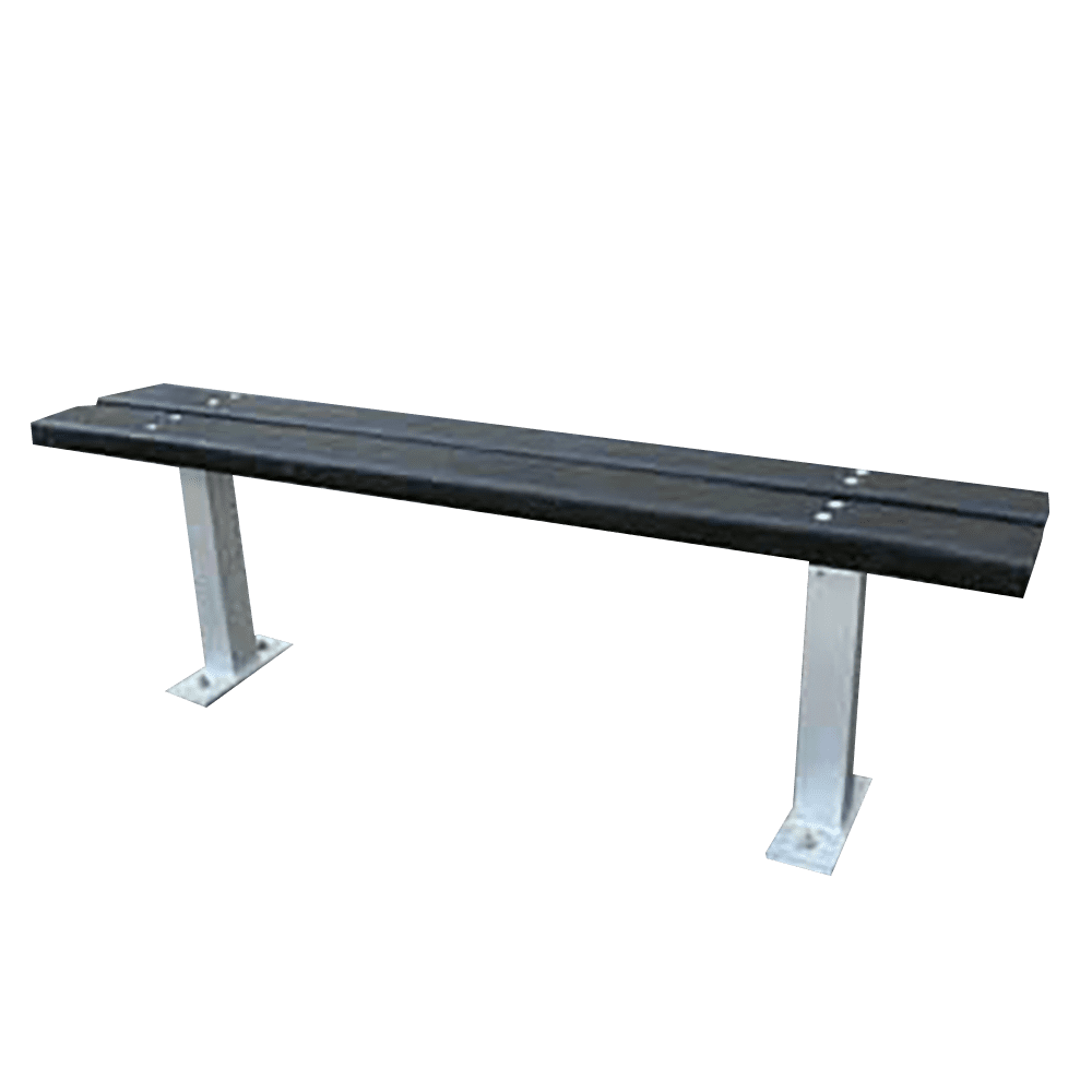 Single Recycled Plastic Bench