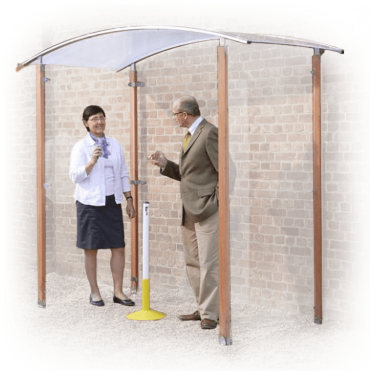 Wall mounted Wooden Smoking Shelter