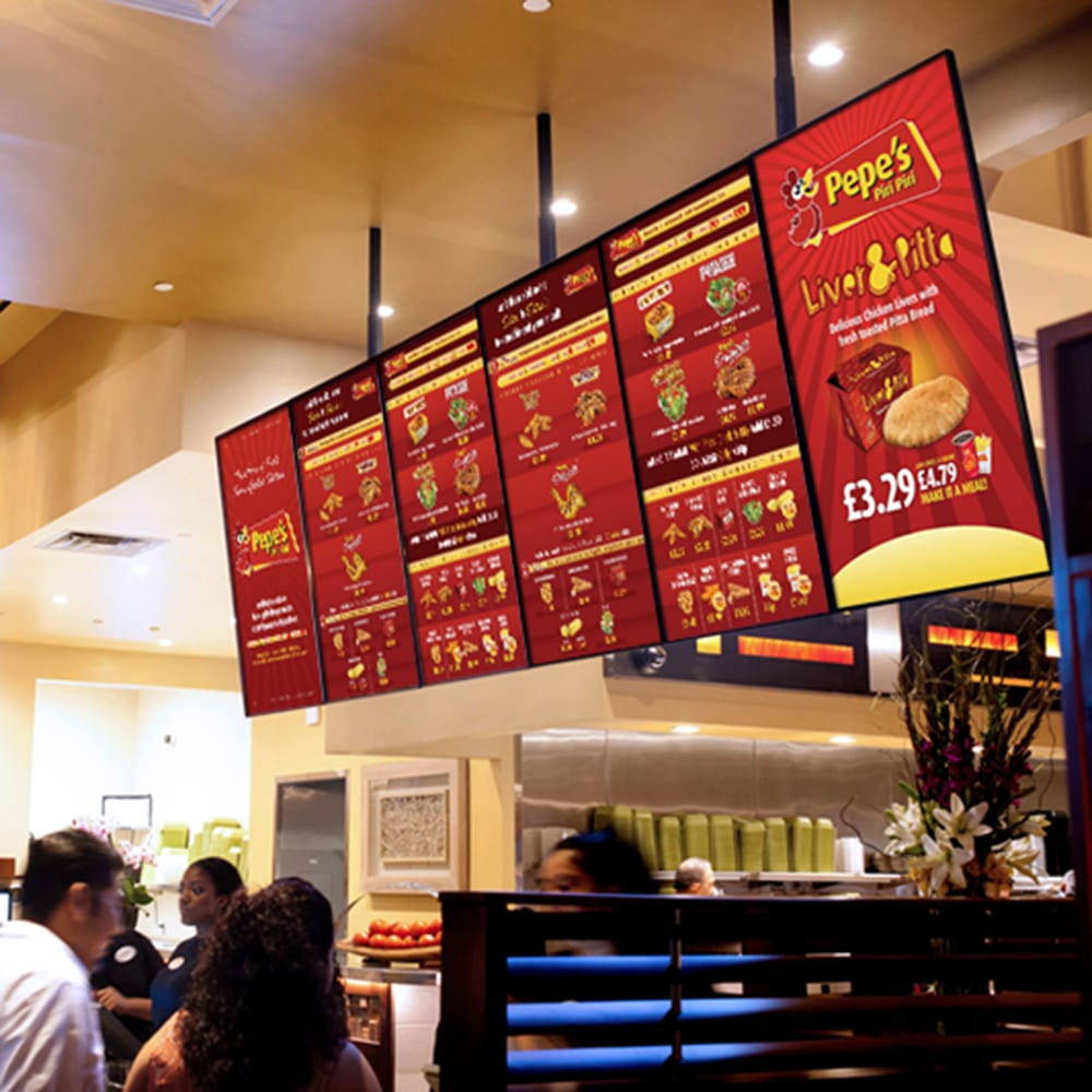 led android digital menu boards all in one network cms digital signage software advertising displays 05