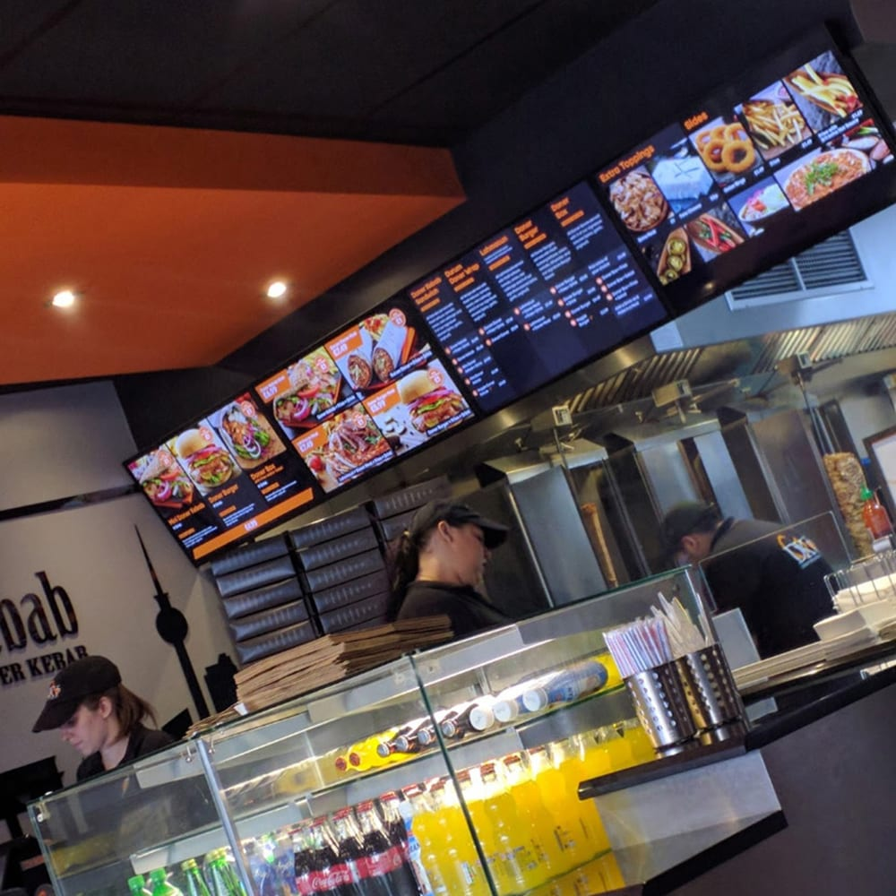 led android digital menu boards all in one network cms digital signage software advertising displays 29