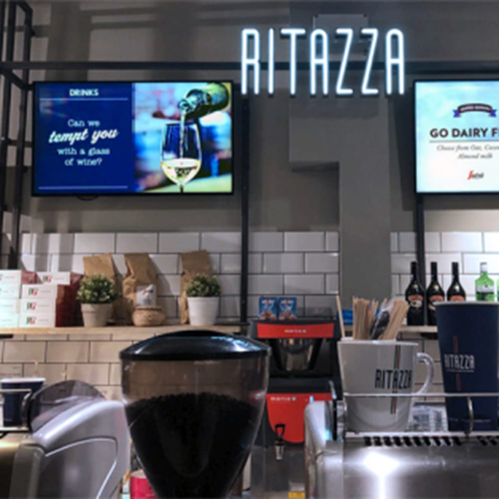 led android digital menu boards all in one network cms digital signage software advertising displays 32