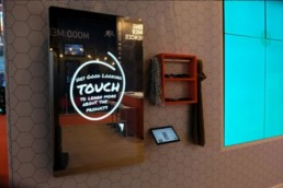 pcap touch screen magic mirror interactive wall mounted giant tablet 02
