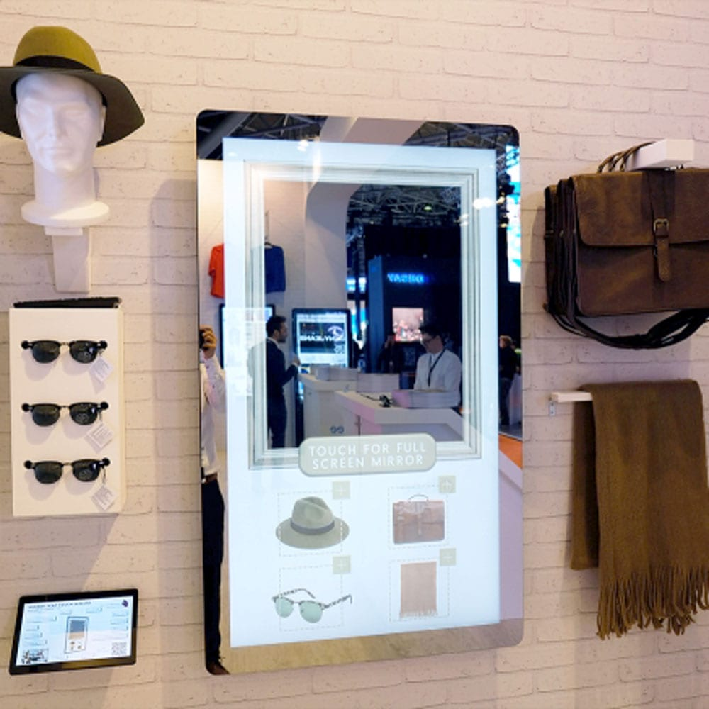 pcap touch screen magic mirror interactive wall mounted giant tablet 04