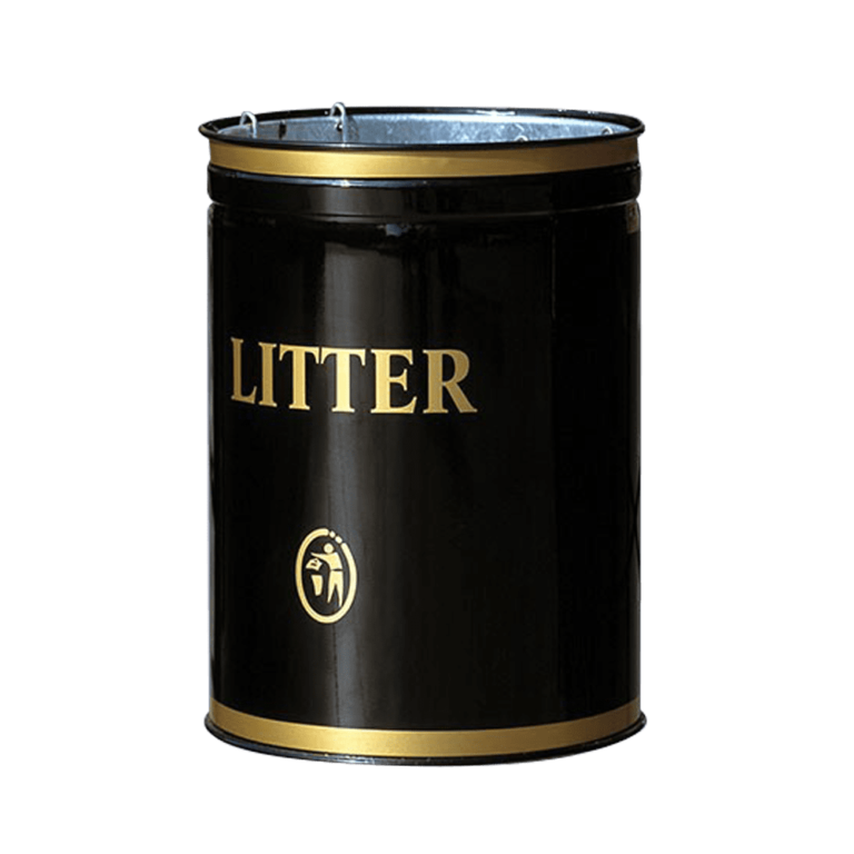 open top litter bin