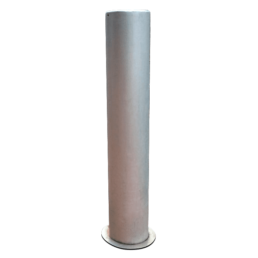 flat top steel bollard powder coated