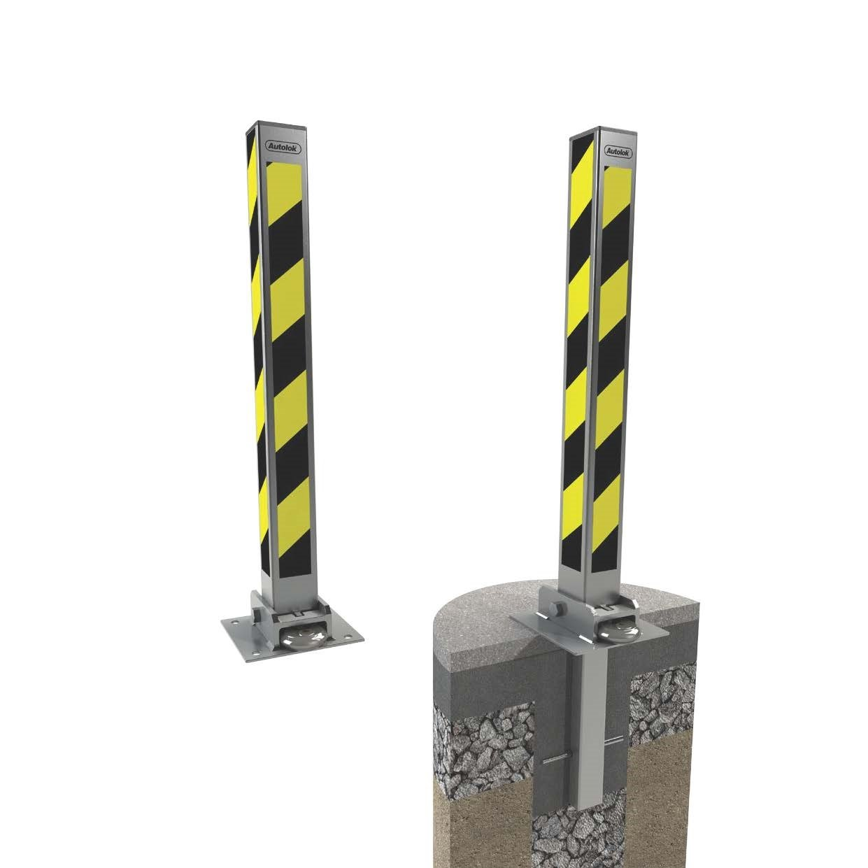 Fold Down Security Post