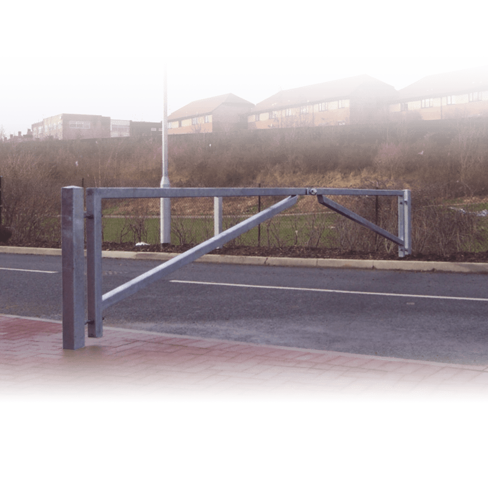 Double leaf swinging access gate