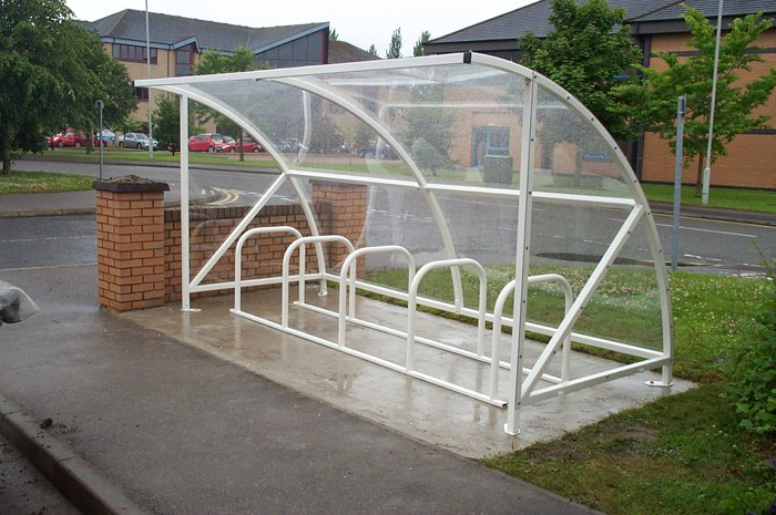 10 Cycle Shelter Open Fronted