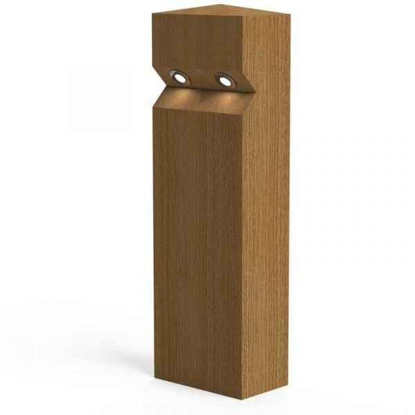 Stratton Double Eco Timber Bollard 1