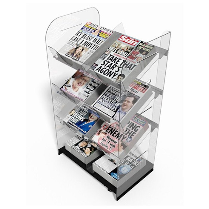 Double Newspaper Display Stand