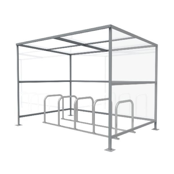 10 Cycle Shelter and Rack | Queensway